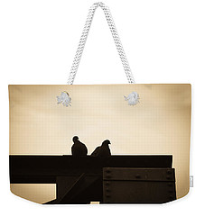 Pigeon And Steel Weekender Tote Bag by Bob Orsillo