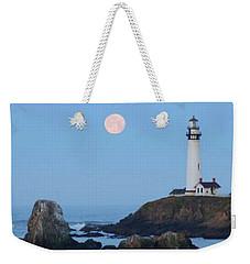 Pigeon Point At Moonset Weekender Tote Bag