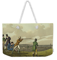 Pigeon Shooting Weekender Tote Bag by Henry Thomas Alken