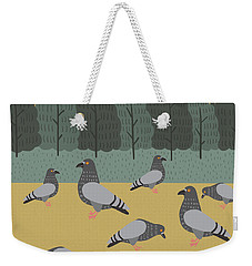 Pigeons Day Out Weekender Tote Bag by Nicole Wilson