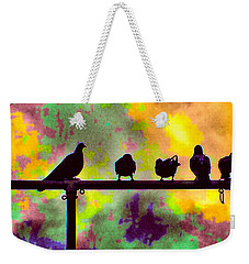 Pigeons In Abstract 2 Weekender Tote Bag