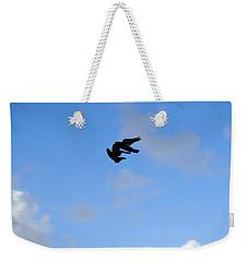 Pigeons Shadow Weekender Tote Bag by Isam Awad