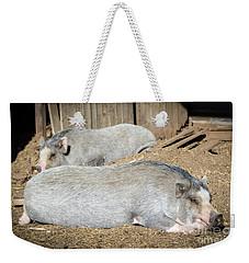 Piggies Weekender Tote Bag by Cheryl McClure