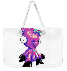 Weekender Tote Bag featuring the digital art Piggy  by Lizzy Love