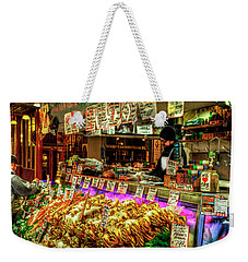 Pike Market Fresh Fish Weekender Tote Bag by Greg Sigrist