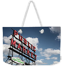 Weekender Tote Bag featuring the photograph Pike Place Market by Ed Clark