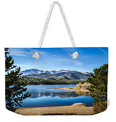 Pikes Peak Over Crystal Lake Weekender Tote Bag