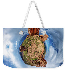 Weekender Tote Bag featuring the photograph Pikes Peak Tiny Planet #1 by Chris Bordeleau