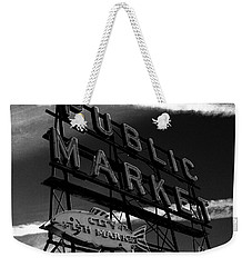 Pikes Place Market Sign Weekender Tote Bag