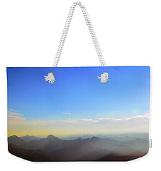 Pilchuck And Three Sisters Sunrise Weekender Tote Bag