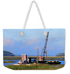 Pile Driving Machine Weekender Tote Bag