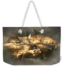 Pile Of Sleeping Bobcats Weekender Tote Bag