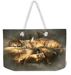 Pile Of Sleeping Bobcats Weekender Tote Bag