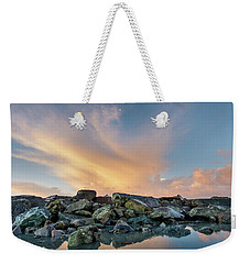 Piles Of Rocks And The Dawn Weekender Tote Bag