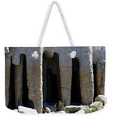 Pillars At Crowley Lake Weekender Tote Bag by Michael Courtney