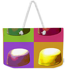Weekender Tote Bag featuring the digital art Pillbox Hat by Jean luc Comperat