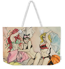 Pillow Fight Weekender Tote Bag