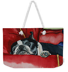 Pillow Pup Weekender Tote Bag