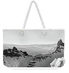Pilot And Index Peaks B/w Weekender Tote Bag