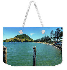 Pilot Bay Beach 1 - Mt Maunganui Tauranga New Zealand Weekender Tote Bag