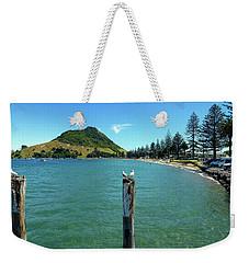 Pilot Bay Beach 1 - Mt Maunganui Tauranga New Zealand Weekender Tote Bag by Selena Boron