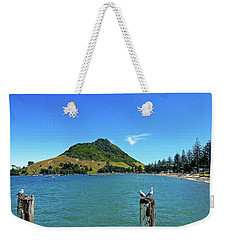 Pilot Bay Beach 2 - Mount Maunganui Tauranga New Zealand Weekender Tote Bag