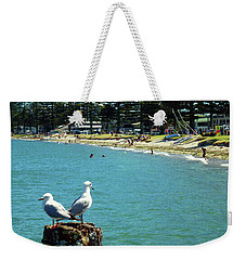 Pilot Bay Beach 4 - Mount Maunganui Tauranga New Zealand Weekender Tote Bag by Selena Boron