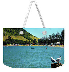 Pilot Bay Beach 5 - Mt Maunganui Tauranga New Zealand Weekender Tote Bag by Selena Boron