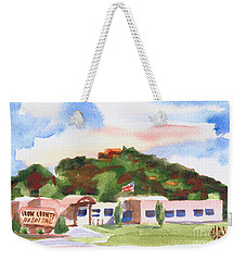 Weekender Tote Bag featuring the painting Pilot Knob Mountain W401  by Kip DeVore