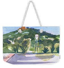 Weekender Tote Bag featuring the painting Pilot Knob Mountain W404 by Kip DeVore