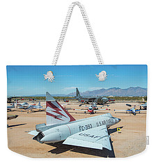 Weekender Tote Bag featuring the photograph Pima Air And Space Museum by Dan McManus