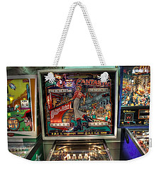 Pinball Elton John Bally Weekender Tote Bag by Jane Linders