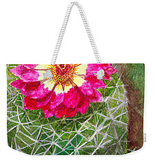 Pincushion Cactus Weekender Tote Bag
