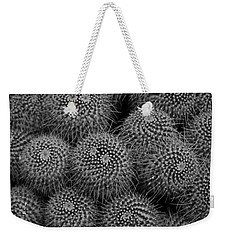 Pincushion Cactus In Black And White Weekender Tote Bag