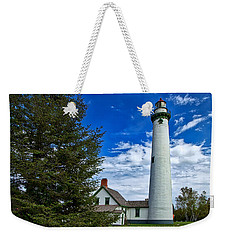 Pine At New Presque Isle Light Weekender Tote Bag