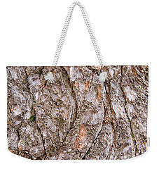 Weekender Tote Bag featuring the photograph Pine Bark Abstract by Christina Rollo