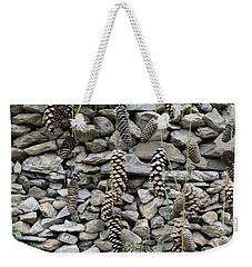 Pine Cone And Stones Weekender Tote Bag