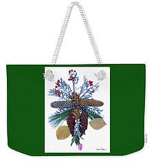 Pine Cone Bouquet Weekender Tote Bag by Lise Winne