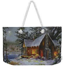 Pine Cove Cabin Weekender Tote Bag