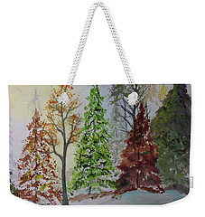 Weekender Tote Bag featuring the painting Pine Cove by Jack G Brauer