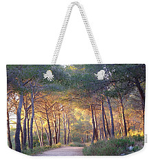 Pine Forest At Sunset Weekender Tote Bag