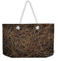 Weekender Tote Bag featuring the photograph Pine Needles On Forest Floor by Elena Elisseeva