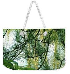 Pine Needles Patchwork Weekender Tote Bag