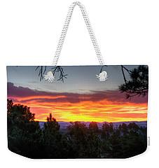 Pine Sunrise Weekender Tote Bag by Fiskr Larsen