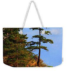 Pine Tree Along The Oregon Coast Weekender Tote Bag by Tom Janca