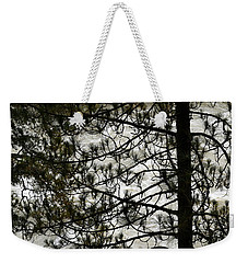 Pine Tree And The River Weekender Tote Bag