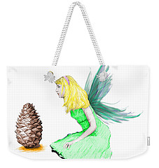 Pine Tree Fairy And Pine Cone Weekender Tote Bag