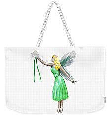 Pine Tree Fairy Holding Pine Needles Weekender Tote Bag