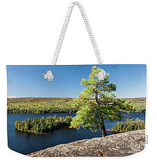 Weekender Tote Bag featuring the photograph Pine Tree With A View by Elena Elisseeva