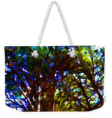 Pine Trees In Abstract 1 Weekender Tote Bag